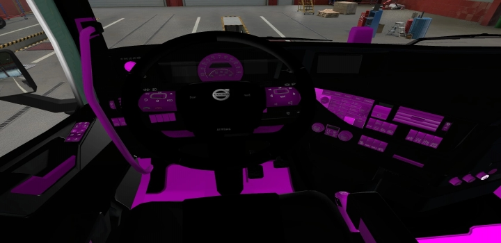 Photo of Interior Volvo Fh16 2012 Pink And Black ETS2 1.40