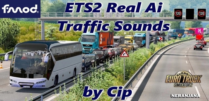 Photo of Real Ai Traffic Fmod Sounds ETS2 1.40