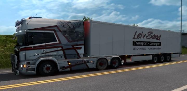 Photo of Rjl Longline Leiv Sand Transport Skin Pack V1.0 ETS2 1.39