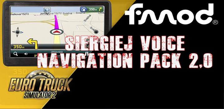 Photo of Siergiej Voice Navigation Pack V2.0 ETS2 1.40