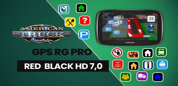 Photo of Gps Rg Pro Red Black Hd V7.0 ATS 1.40