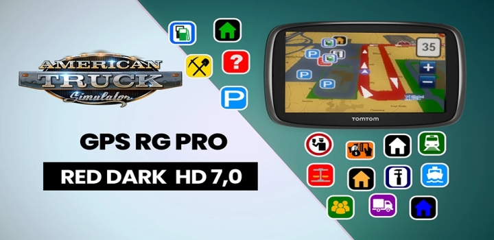 Photo of Gps Rg Pro Red Dark Hd V7.0 ATS 1.40