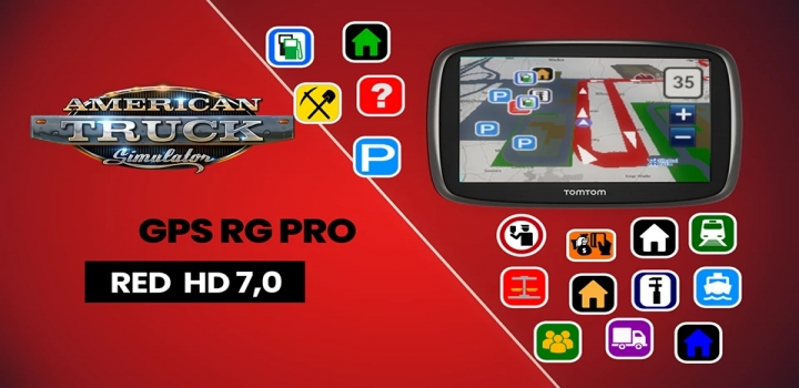 Photo of Gps Rg Pro Red Hd V7.0 ATS 1.40