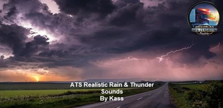 Photo of Realistic Rain & Thunder Sounds V3.2 ATS 1.40