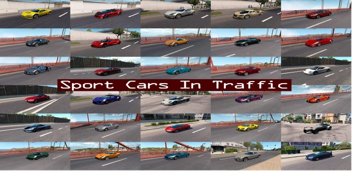 Photo of Sport Cars Traffic Pack V8.2 ATS 1.40