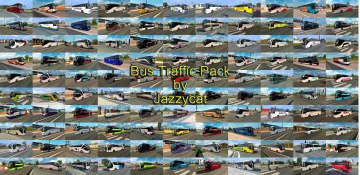Photo of Bus Traffic Pack V11.5 ETS2 1.40