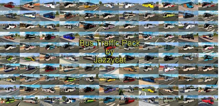 Photo of Bus Traffic Pack V11.5 ETS2 1.40