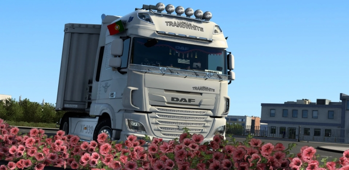 Photo of Daf Xf Euro 6 Transwhite Skin V1.0 ETS2 1.40