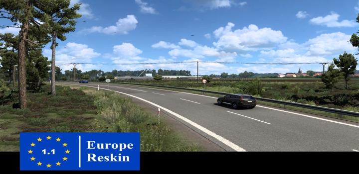 Photo of Europe Reskin V1.1 ETS2 1.40