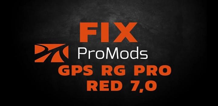 Photo of Gps Rg Pro Red Promods Fix V7.0 ETS2 1.40