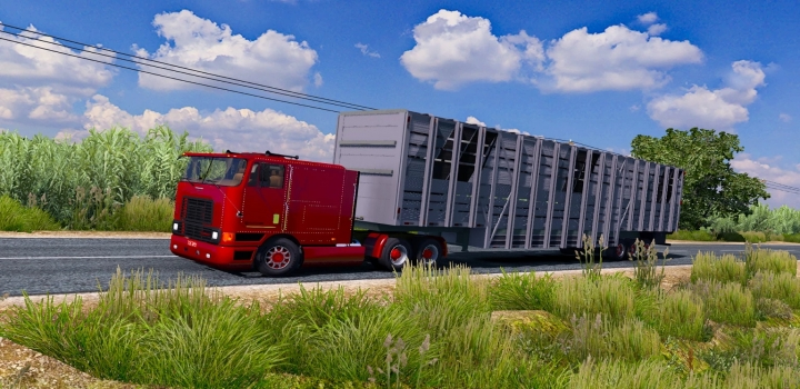 Photo of International Edit Br Truck + Big Livestock Trailer ETS2 1.40