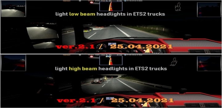 Photo of Light Headlight Change ETS2 1.40