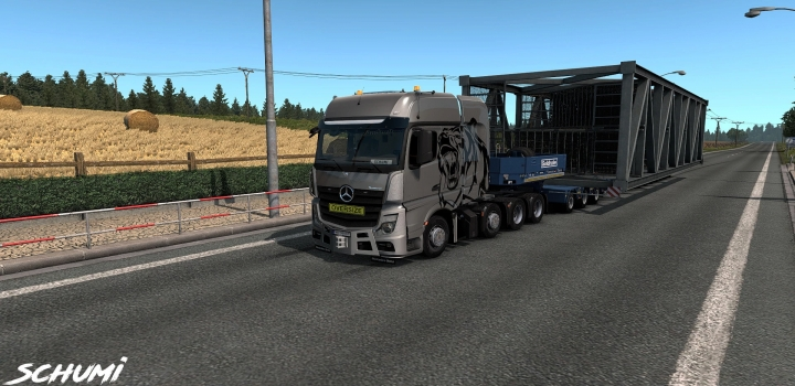 Photo of Mercedes Actros Mp4 Reworked V2.7 ETS2 1.40