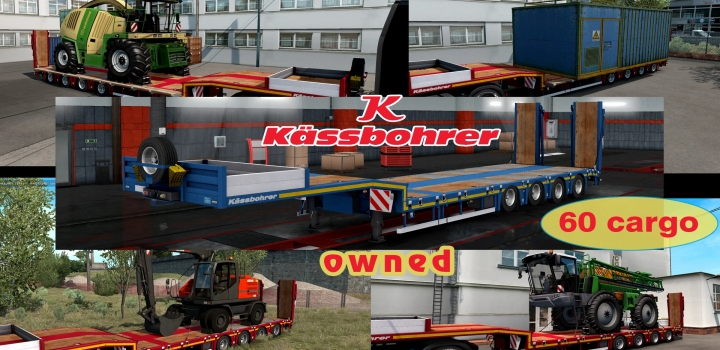 Photo of Ownable Overweight Trailer Kassbohrer Lb4E V1.1.6 ETS2 1.40
