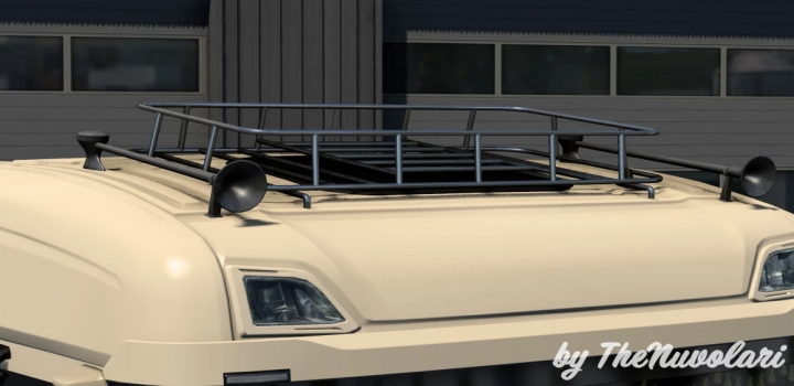 Photo of Painted And Chrome Roofracks For Scania Next-Gen V1.0 ETS2 1.40