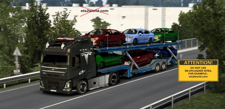 Photo of Tesla Skin (Paint Job) For Volvo Fh16 ETS2 1.40
