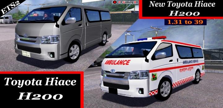 Photo of Toyota Hiace H200 Car V2.0 ETS2 1.40
