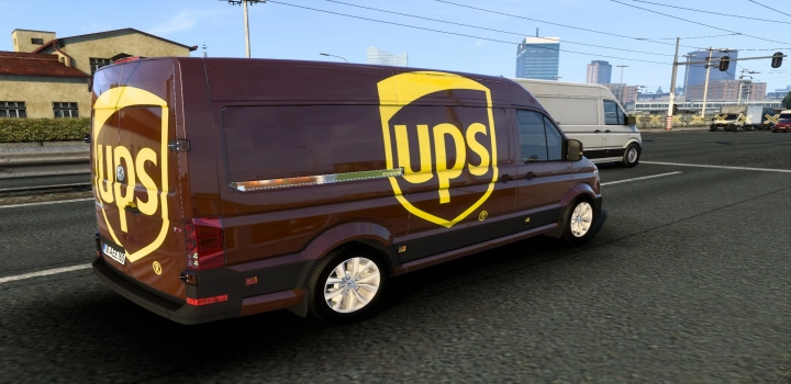 Photo of Volkswagen Crafter Ups Skin ETS2 1.40