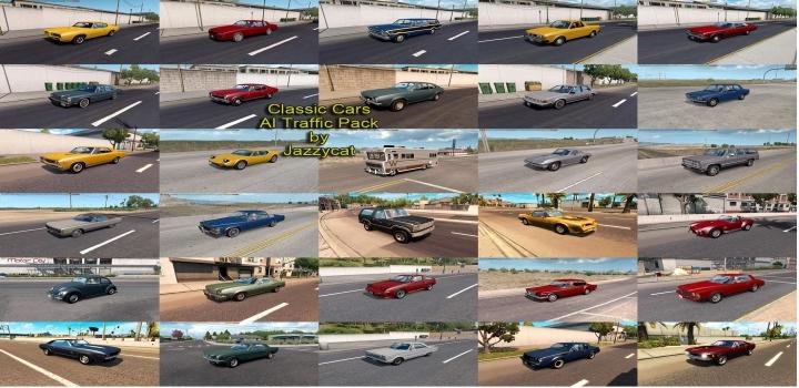Photo of Classic Cars Ai Traffic Pack V5.6 ATS 1.40