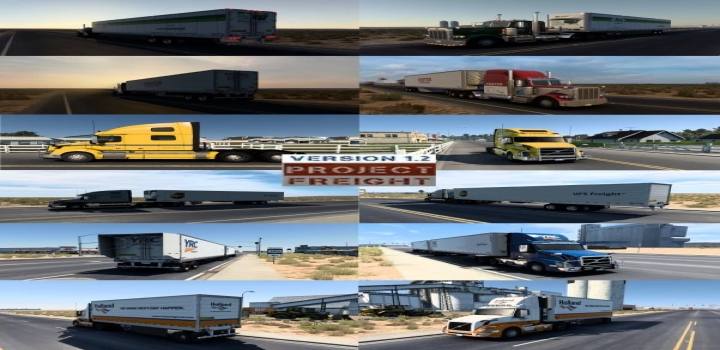 Photo of Project Freight V1.2 Skins Only For Truck And Ownership Box Trailers ATS 1.40