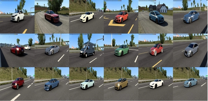 Photo of Ai Traffic Pack With Cars From Burnout Paradise, Watch Dogs, Just Cause 3 V1.2.1  ETS2 1.40