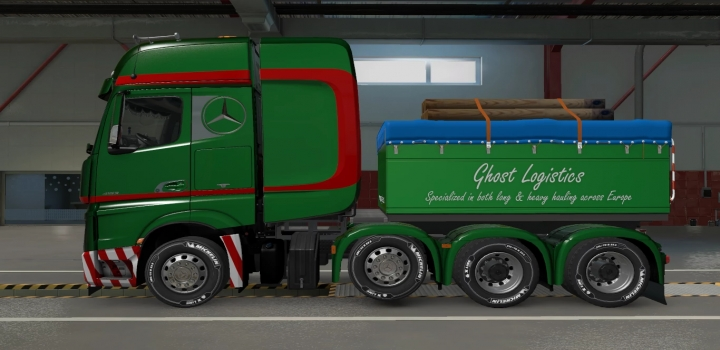 Photo of Custom Chassis For Mercedes Actros 2014 ETS2 1.40