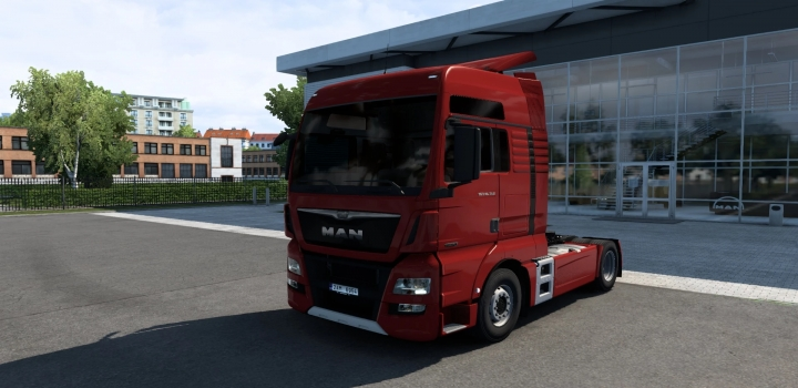 Photo of Man Tgx Euro 6 V2.2 (Madster) Fmod & Open Window ETS2 1.40