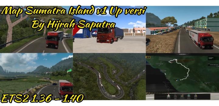 Photo of Map Sumatra Island Update Version V1.0 ETS2 1.40