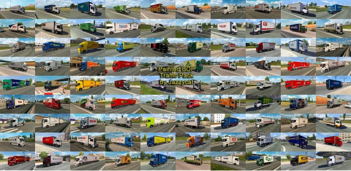 Photo of Painted Bdf Traffic Pack V9.8 ETS2 1.40