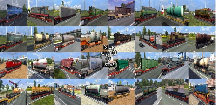 Photo of Railway Cargo Pack V2.1.6 ETS2 1.40