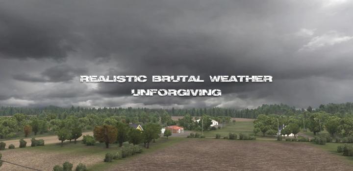 Photo of Realistic Brutal Weather Unforgiving V6.5 ETS2 1.40