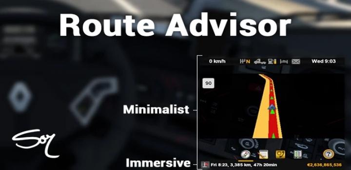 Photo of Route Advisor – Minimalist & Immersive ETS2 1.40