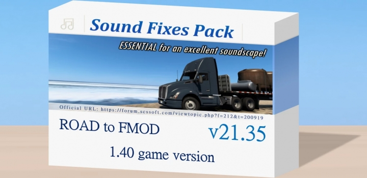 Photo of Sound Fixes Pack V21.35 ETS2 1.40