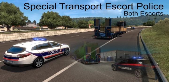 Photo of Special Transport Escort Police V1.2.1 ETS2 1.40