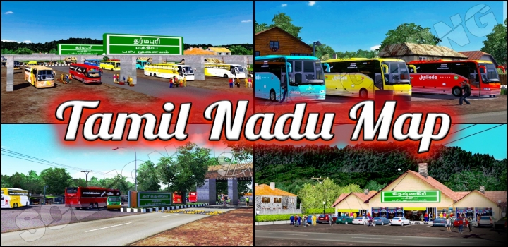 Photo of Tamil Nadu Map With Profile ETS2 1.40