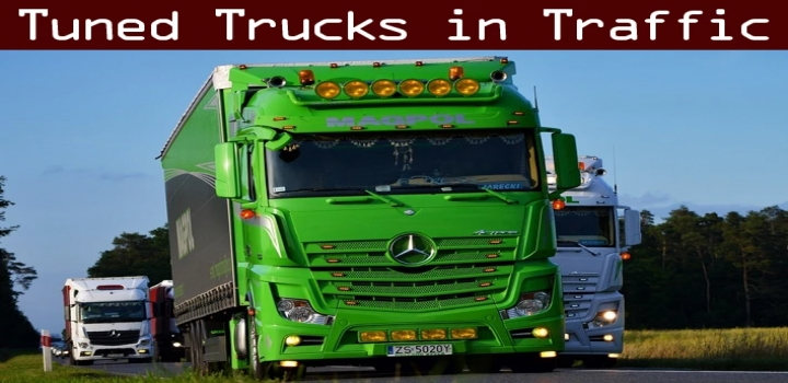 Photo of Tuned Truck Traffic Pack V2.9 ETS2 1.40