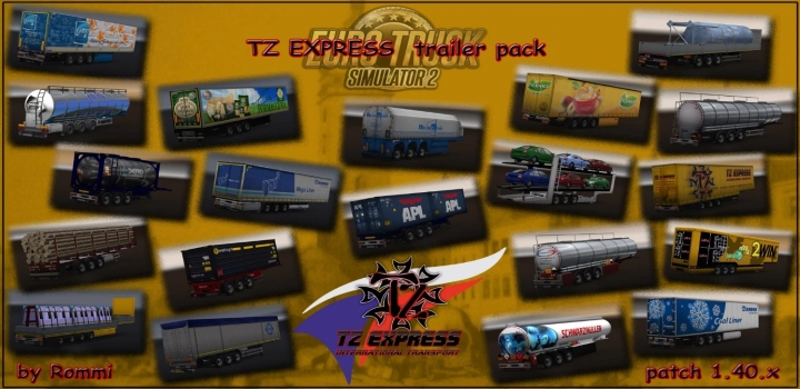 Photo of Tz Express Trailers Pack + Ownable Package ETS2 1.40