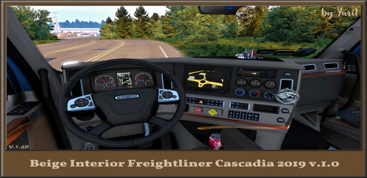 Photo of Beige Interior For Freightliner Cascadia 2019 V1.0 ATS 1.40