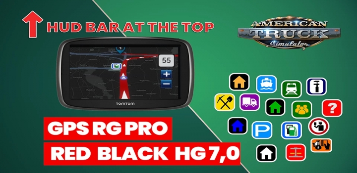 Photo of Gps Rg Pro Red Black Hg V7.0 ATS 1.40