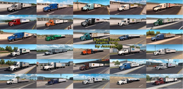 Photo of Painted Truck Traffic Pack V4.1.4 ATS 1.40