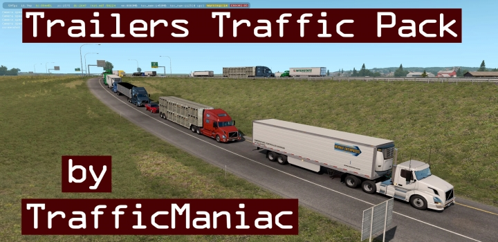 Photo of Trailers Traffic Pack V4.1.1 ATS 1.40