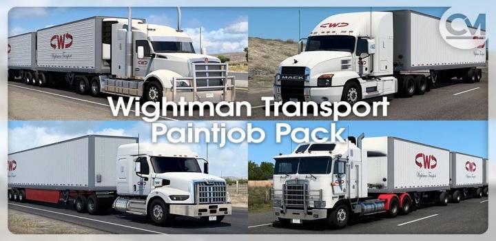 Photo of Wightman Transport Paintjob Pack V1.0.1 ATS 1.40