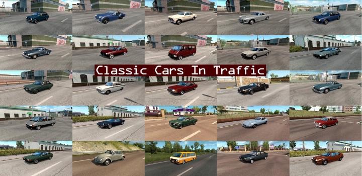 Photo of Classic Cars Traffic Pack V6.9 ETS2 1.40
