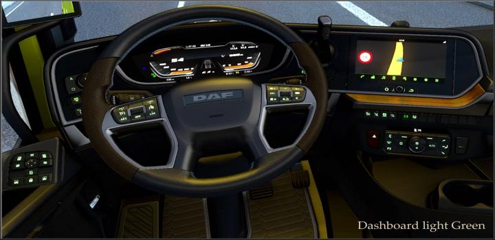 Photo of Dashboard Light Green For Daf 2021 Xg V0.8 ETS2 1.40