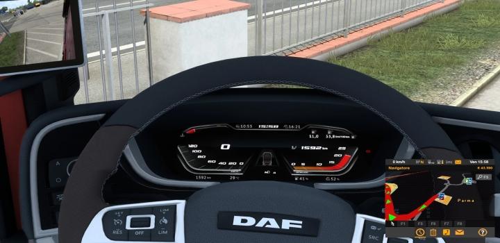 Photo of Gauges Red For Daf 2021 V1.0 ETS2 1.40