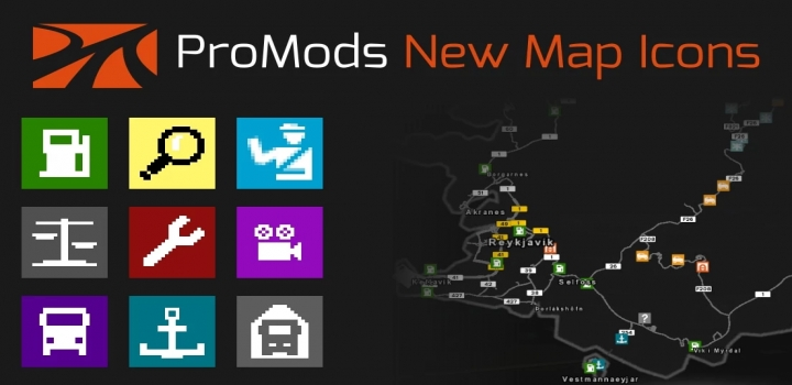 Photo of Promods New Map Icons V1.0 ETS2 1.40