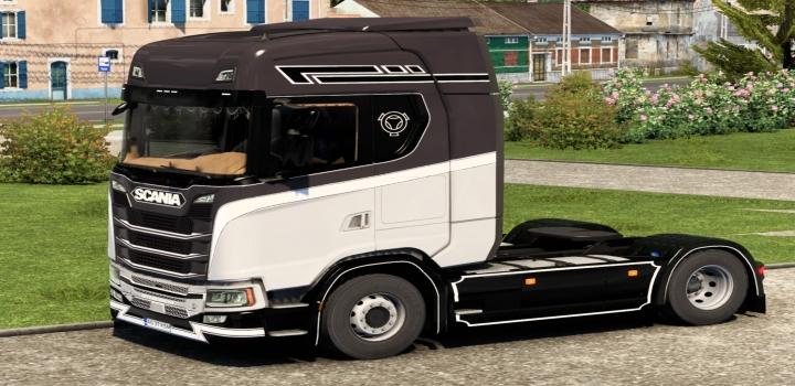 Photo of Scania S Black White Skin ETS2 1.40