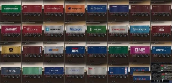 Photo of Shipping Container Cargo Pack V2.3 ETS2 1.40