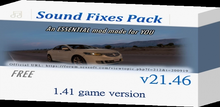 Photo of Sound Fixes Pack V21.46 ATS 1.41