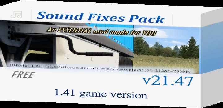 Photo of Sound Fixes Pack V21.47 ATS 1.41